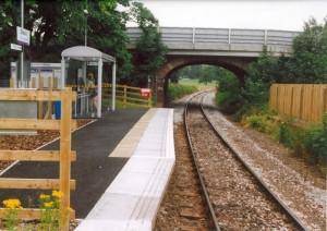Beauly station platform